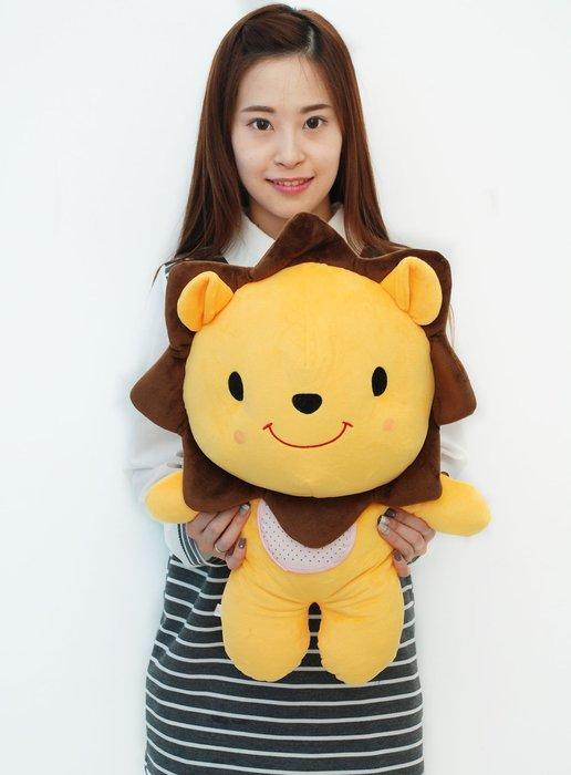 娃娃夢幻樂園~可愛獅子大娃娃~高55公分~獅子長抱枕玩偶~生日禮物~全省宅配