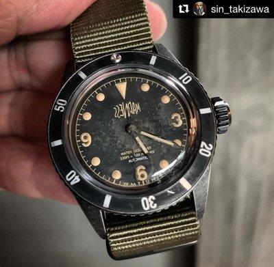聯名大作 MANDESS x Watch Experimental Unit (WMT) 舊裝老勞型 錶 黑魂 全新現貨