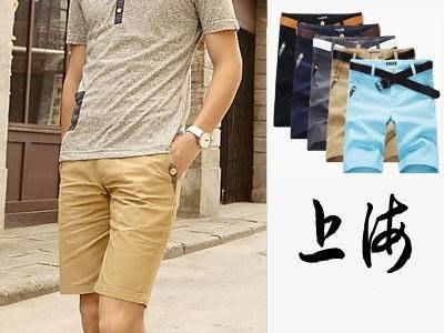 衣林魔力屋【拼接木釦造型】百搭合身短褲
