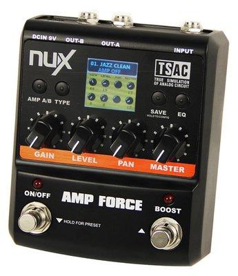 【老羊樂器店】現貨 NUX Amp Force 電吉他 單顆 Pedal 效果器 音箱模擬