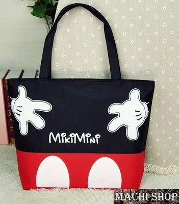 【現貨】日韓流行 米奇手帆布包 學生包 側背包 媽媽包 購物袋  [ MACHI SHOP ]