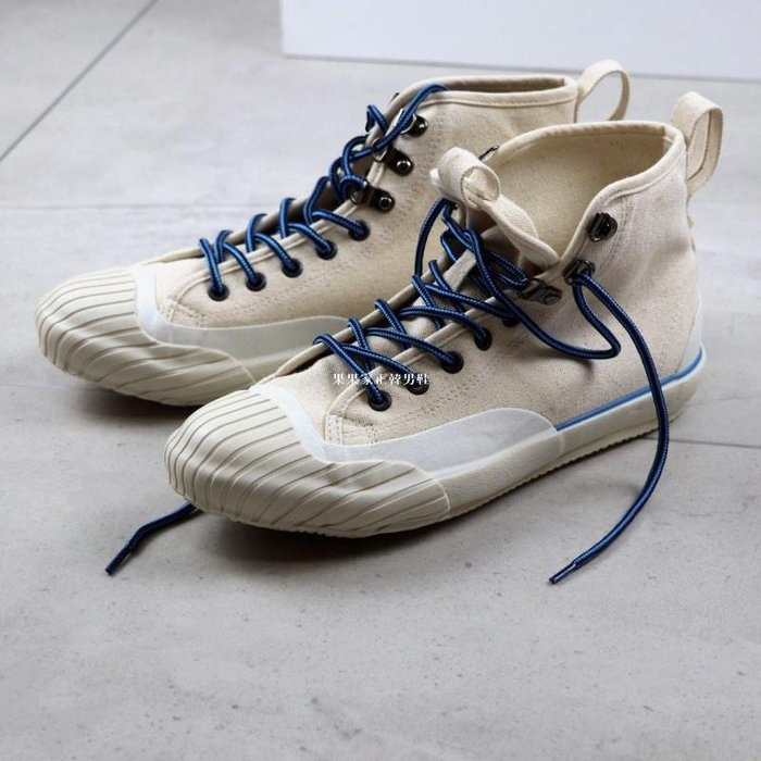 果果家正韓男鞋重工岡山久留米工藝硫化鞋 日系復古高幫球鞋啊美咔嘰工裝帆布鞋