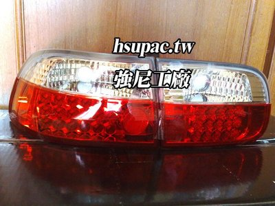 ☆☆☆強尼工廠☆☆☆全新本田 HONDA CIVIC K6 3D 三門 紅白晶鑽 LED尾燈