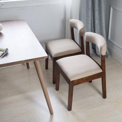 『格倫雅』實木復古餐椅北歐家用咖啡椅靠背成人休閑椅書桌椅現代簡約酒店椅^11661