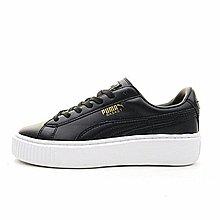 D-BOX  PUMA Suede Platform Gold 純黑色 厚底 板鞋 皮革 慢跑鞋 百搭 女款