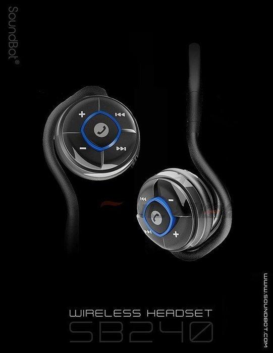【易油網】SoundBot SB240 美國原廠聲霸 防水藍芽耳機 防水 藍牙 運動 蘋果 慢跑(藍色)