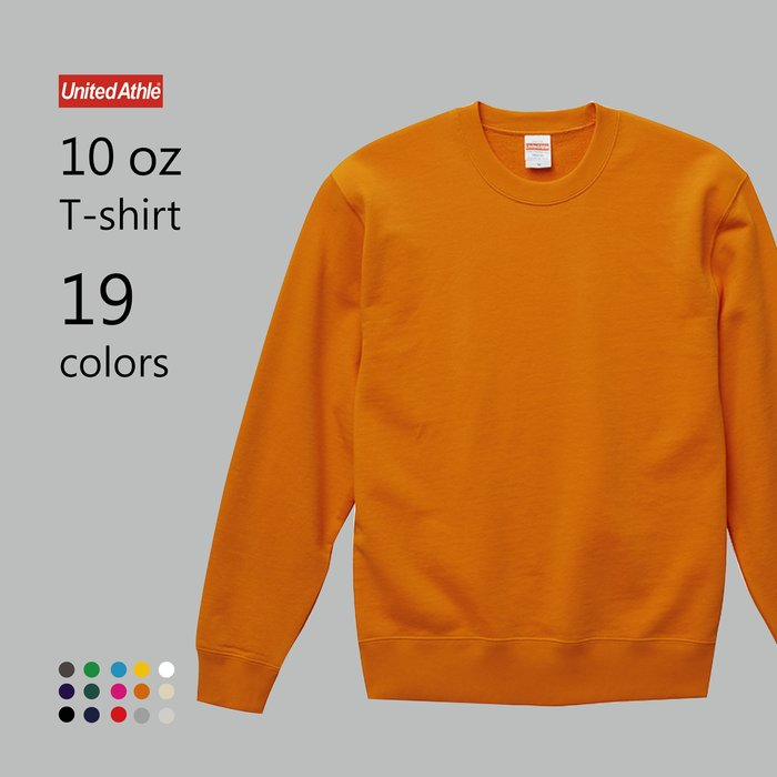 WaShiDa【UA5044】United Athle × 10磅 全棉 圓領 落肩 長袖 運動衫