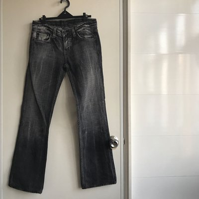 AX armani exchange 素黑牛仔褲