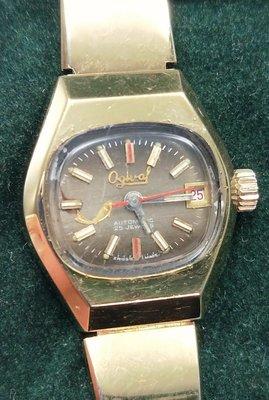 OQ精品腕錶  瑞士愛其華自動上鍊女錶壓克力鏡面不含龍頭22MM庫存錶行走正常