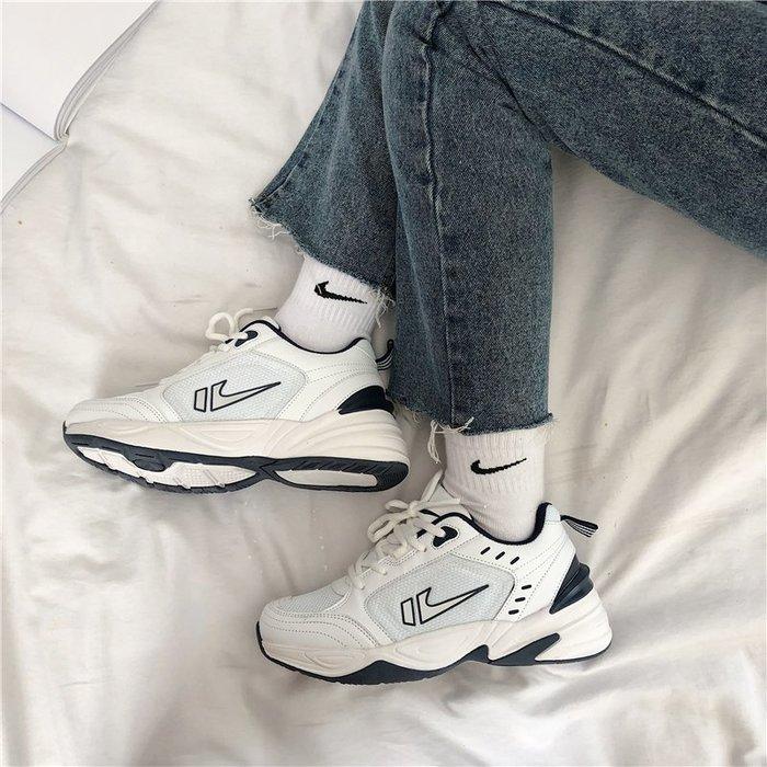 創意夏季女鞋新款韓國ulzzang復古老爹鞋原宿港風休閑學生ins情侶運動鞋女