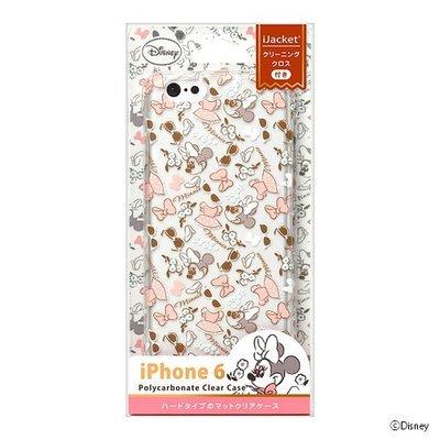 尼德斯Nydus~* 日本正版 迪士尼 米妮 Minne 透明 硬殼 手機殼 蝴蝶結 4.7吋 iPhone6