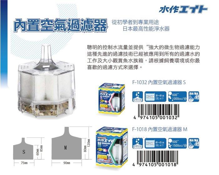 《魚趣館》日本Suisaku水作內置空氣過濾器(迷你型 MIN) 替換棉 1盒3入/水妖精 水中過濾器