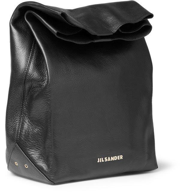 Jil Sander Leather Lunch Bag  亮皮 絕版