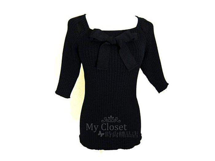 My Closet 二手名牌 CHANEL  黑色針織經典不敗款