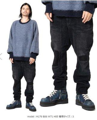 【傑森精品】日本高端小眾潮牌 GLAMB 秋冬新款 厚實水洗 柔軟 粗條燈芯絨 3D剪裁 補丁 寬鬆 小腳 休閒褲