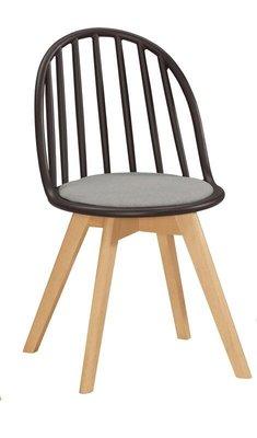 【風禾家具】FQM-1069-6@EDS黑色布餐椅【台中1700送到家】書椅 耐衝擊PP材質 實木腳座 北歐風 傢俱