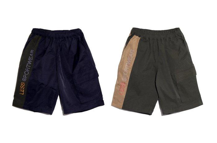 { POISON } LESS 90's SPORT SHORT-S 棉混尼龍材質 防水機能運動短褲