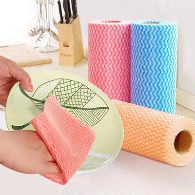 Color_me【N194】撕式不織布免洗抹布 餐巾紙 不沾油 面紙 紙捲 一次性 紙巾 去汙 吸水 衛生紙 清潔
