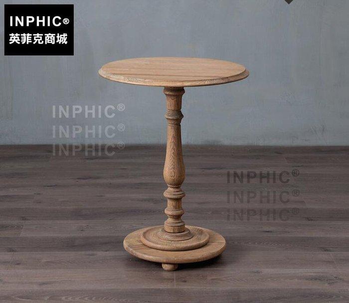 INPHIC-歐式小圓形桌羅馬腿中柱小咖啡桌小茶几電話桌裝飾桌_S1910C