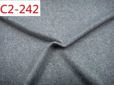 (特價10呎500元) 布料批發零售【CANDY的家2館】 C2-242 秋冬超厚彈性淺麻灰針織粗針背刷毛大衣料