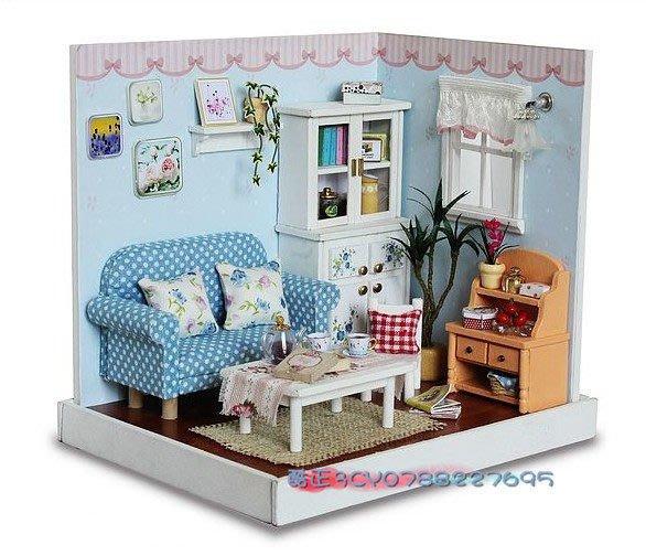 【酷正3C】小型DIY小木屋 袖珍屋 娃娃屋 清新雅居系列 F005歡聚一刻