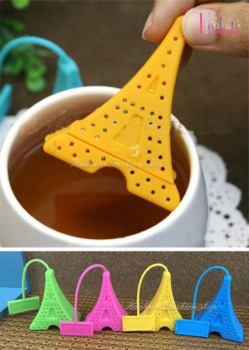 ☆[Hankaro]☆ 創意趣味矽膠鐵塔造型沖茶器