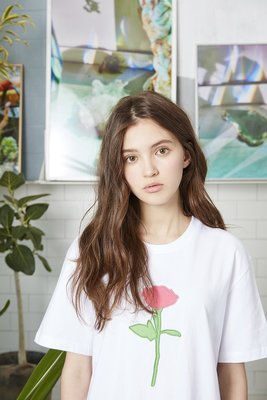 ☆AirRoom☆【現貨】2016aw WHITE BLANK Applique S/S Tee 玫瑰花 白 副牌