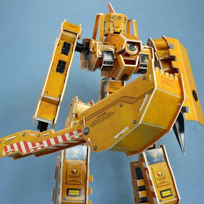 佳廷家庭 親子DIY紙模型立體勞作立體拼圖專賣店 機器人裝甲獸 天秤座 關節可動Microrobot麥克羅伯