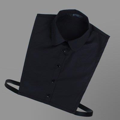 假領子 襯衫 領片-純棉簡約小圓領純色女裝配件2色73va11[獨家進口][米蘭精品]