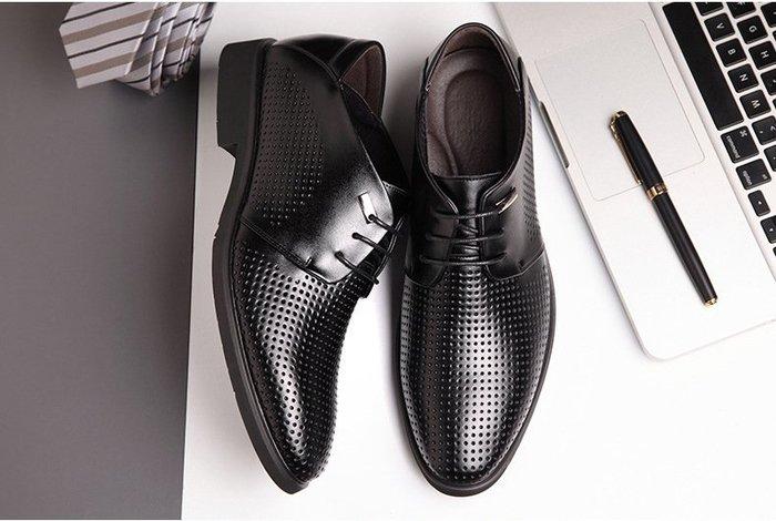 『老兵牛仔』CN-3508夏季新款真皮商務正裝尖頭皮鞋/二層牛皮皮鞋/時尚/彈力/耐摩/個性