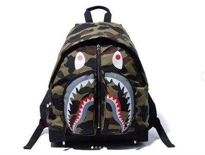 ☆AirRoom☆【現貨】2019AW APE BAPE 1ST CAMO SHARK DAY PACK 鯊魚 後背包