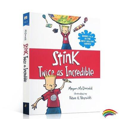 英文原版 Stink系列: Twice as Incredible 臭味:是不可思議的兩倍 兒童閱讀進階橋梁章節書 小學生課外趣味讀物