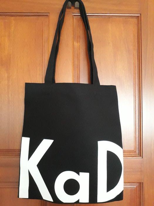 德國kadewe西方百貨 厚版帆布購物袋