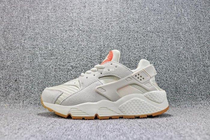 Nike Air Huarache 米灰 編織 透氣 武士 休閒慢跑鞋 男女鞋 818597-001