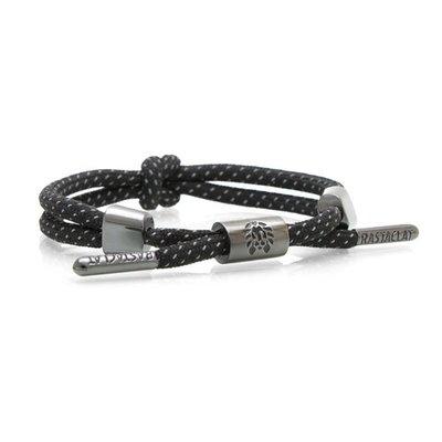 RASTACLAT - 鎳黑時尚雙繩單結手環-時尚 嘻哈 DeeJaySoDa Jordan Yeezy hoPes
