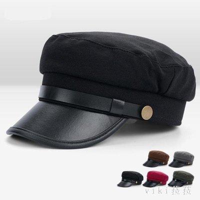 中大尺碼鴨舌帽男女韓版海軍帽遮陽防曬夏平頂帽貝雷帽學生帽 nm4875