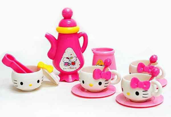 佳佳玩具 ------正版授權 Hello Kitty 凱蒂貓 KT悠閒下午茶 ST安全玩具 【0511343】