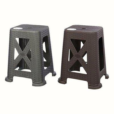 聯府KEYWAY KGB7901 (灰)百威藤藝椅45CM 塑膠椅 戶外椅 藤椅 高腳椅/台灣製兩色