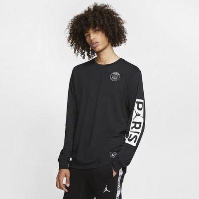 Nike Jordan 巴黎聖日耳曼 薄 長t 運動長袖 男生 BQ8383-010 黑