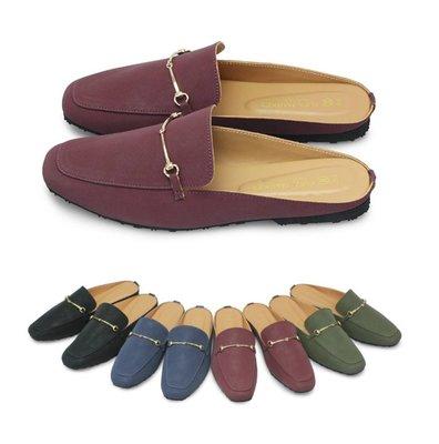 富發牌。女鞋。1PL105 時髦玩味調色盤穆勒鞋 (深藍/綠/酒紅/黑) (23-25.5號)~nanakids娜娜童櫥