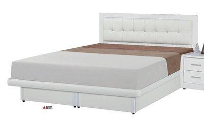 【生活家傢俱】JF-596-5※亞斯5尺白色床片型後掀雙人床【台中8900送到家】白色乳膠皮床頭片+氣壓棒掀床 木心板