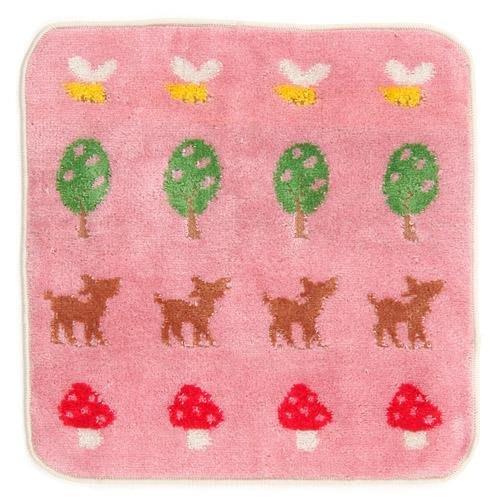 日本製 彩虹熊粉色森林系列小方巾