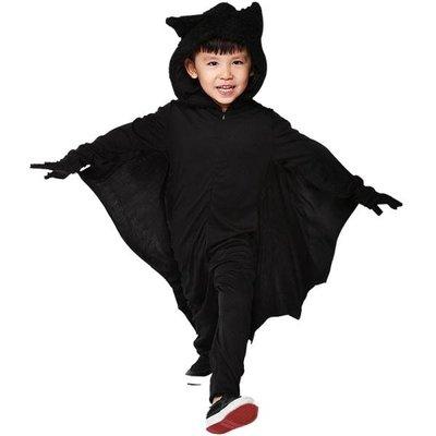 春季上新 萬圣節Cosplay兒童男服裝兒童連體蝙蝠披風蝙蝠派對扮演服飾道具
