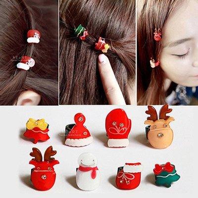 【可愛村】 Xmas聖誕系列迷你髮夾 聖誕節 髮飾