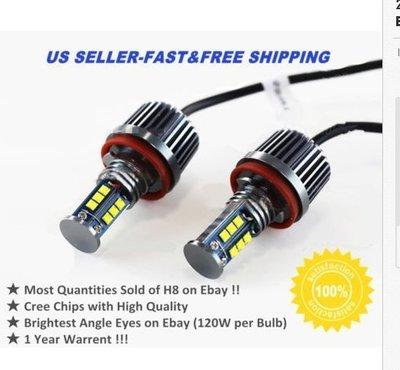 ◇光速LED精品◇BMW E60 E61 E63 E64 H8 96W 光圈燈 白光 一組3800元