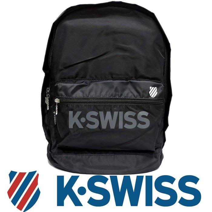 鞋大王K-SWISS BG030-(008黑色)、400(藍色) 30×18×42㎝運動後背包【特價出清,免運費】