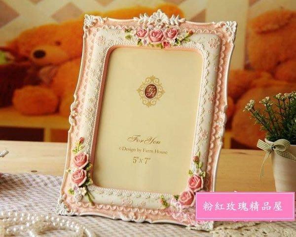 粉紅玫瑰精品屋~farmhouse 夏卡爾玫瑰系列~5*7寸相框~現貨