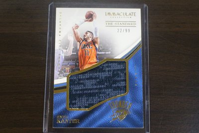 2016-17 Immaculate Standard Jumbo Enes Kanter 限99張大球衣卡