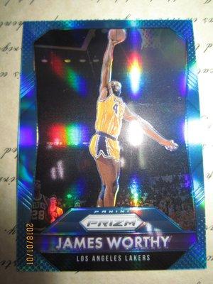 新賣家~15/16~PRIZM~James Worthy /199~藍亮~限量/199~6 1元起標