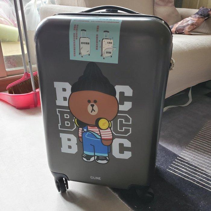 LINE FRIENDS x 中國信託聯名20吋行李箱 (熊大款)
